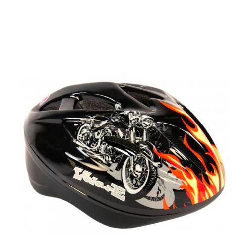Volare Kinder Fiets/Skate Helm Deluxe Zwart Vlam Motor kopen