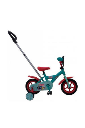kinderfiets 10 inch Turquoise/rood