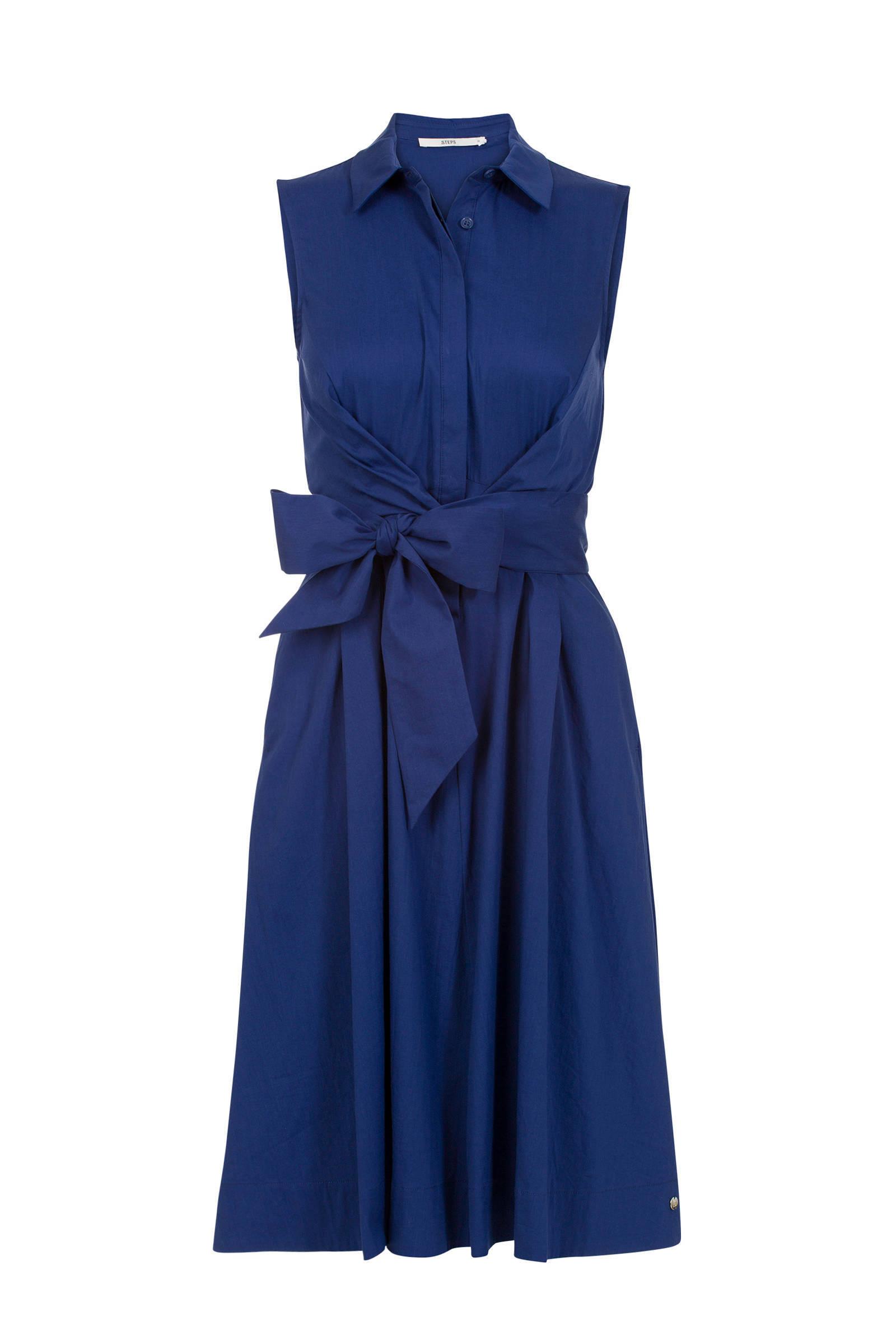 steps jurk blauw