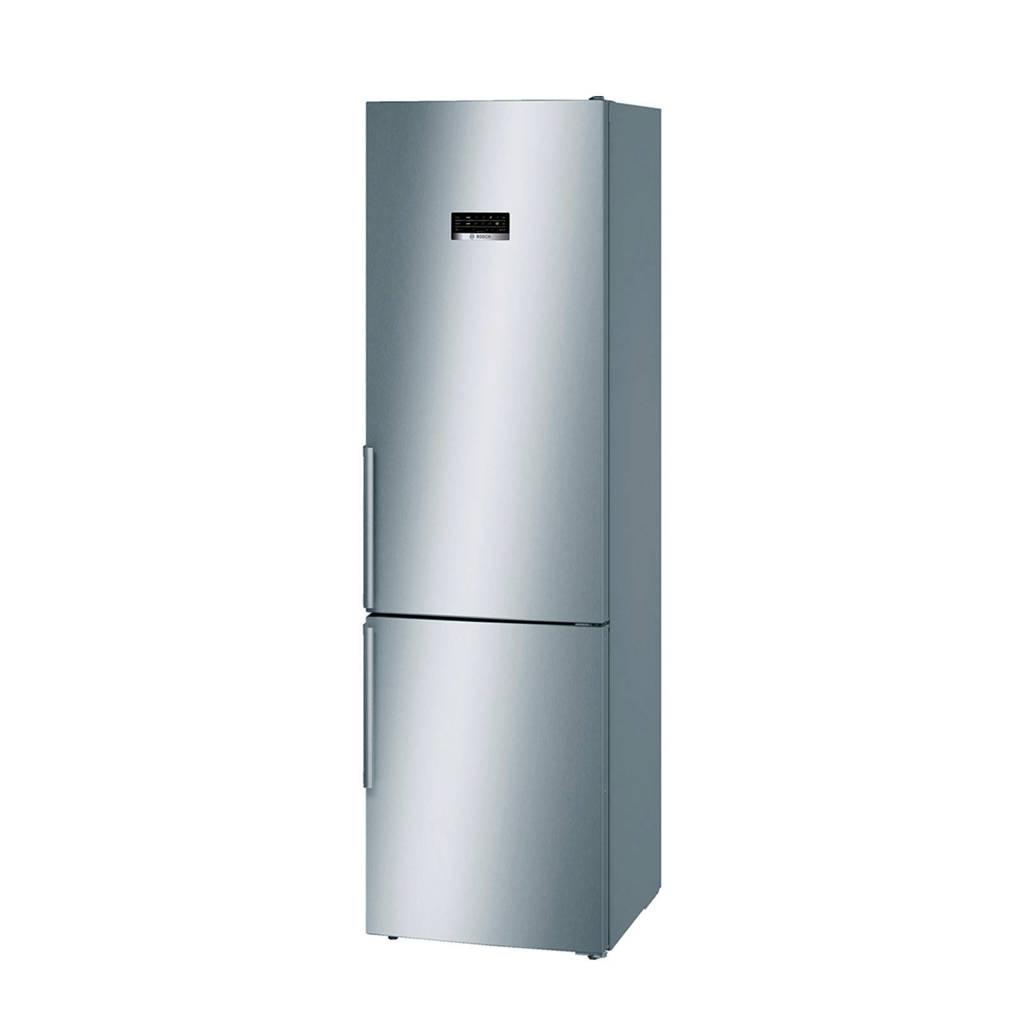 Bosch KGN39XL35 koelvriescombinatie, Deuren RVS look, zijkanten zilver-metallic