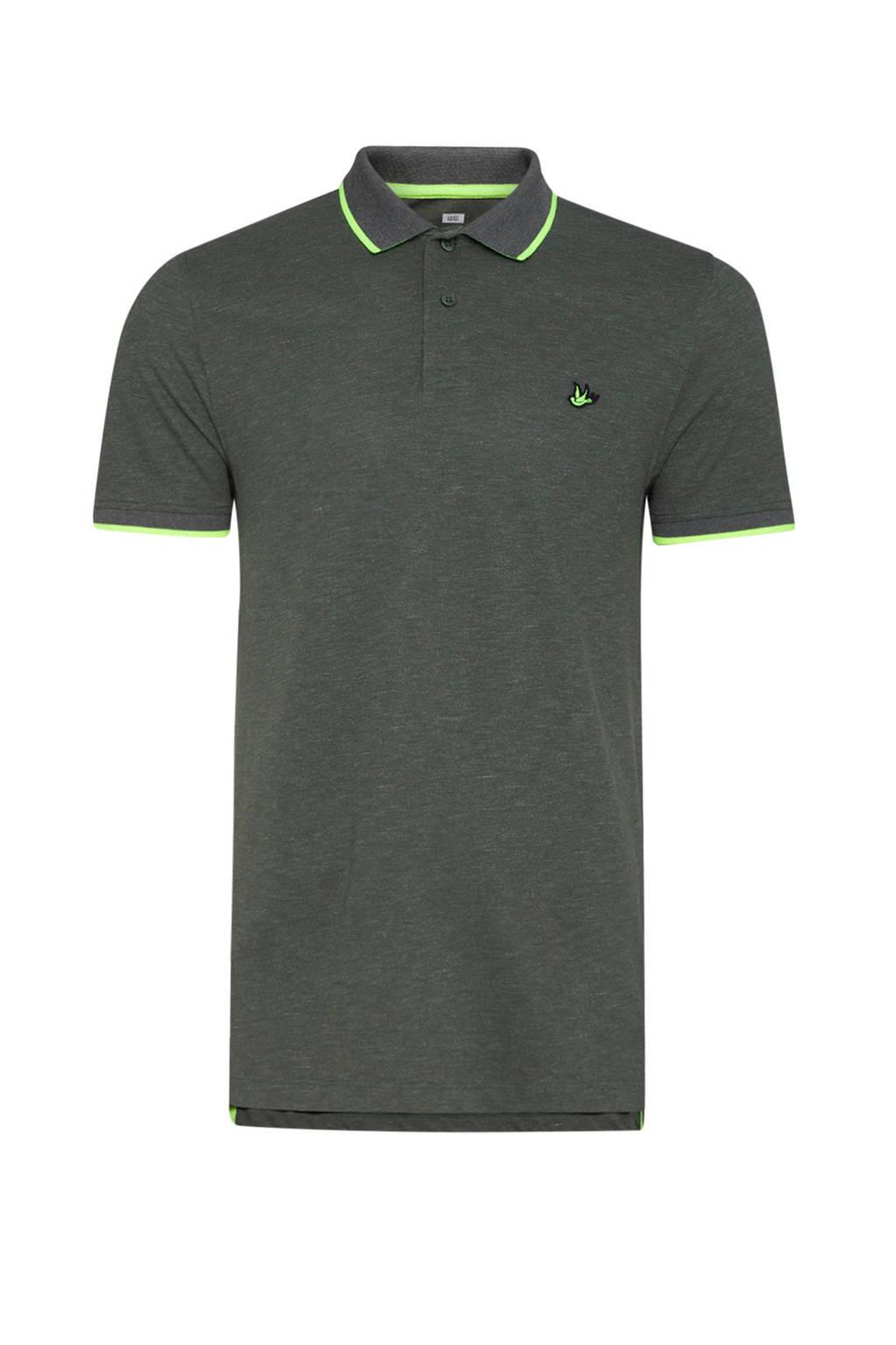 WE Fashion polo groen, Groen/lichtgroen