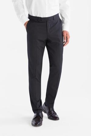 slim fit pantalon met print antraciet