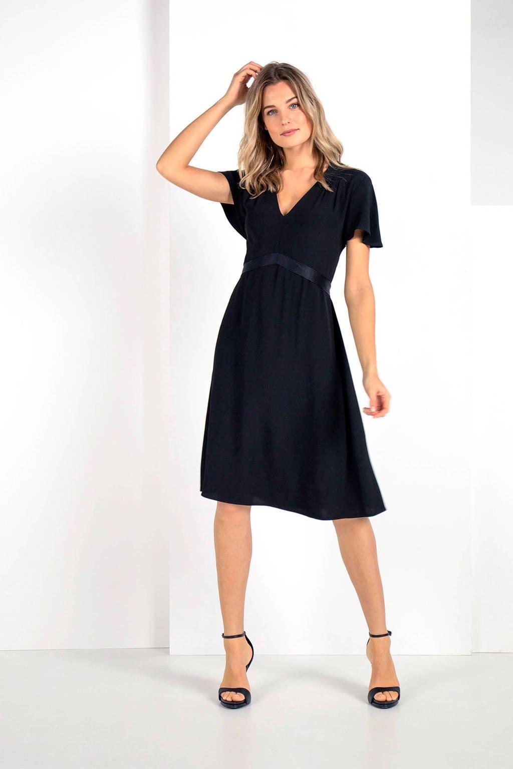 Expresso jersey jurk zwart, Zwart