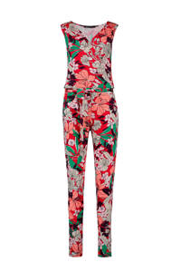 Expresso gebloemde jumpsuit, Rood/multi