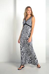 Expresso maxi jurk met bloemenprint, Zwart