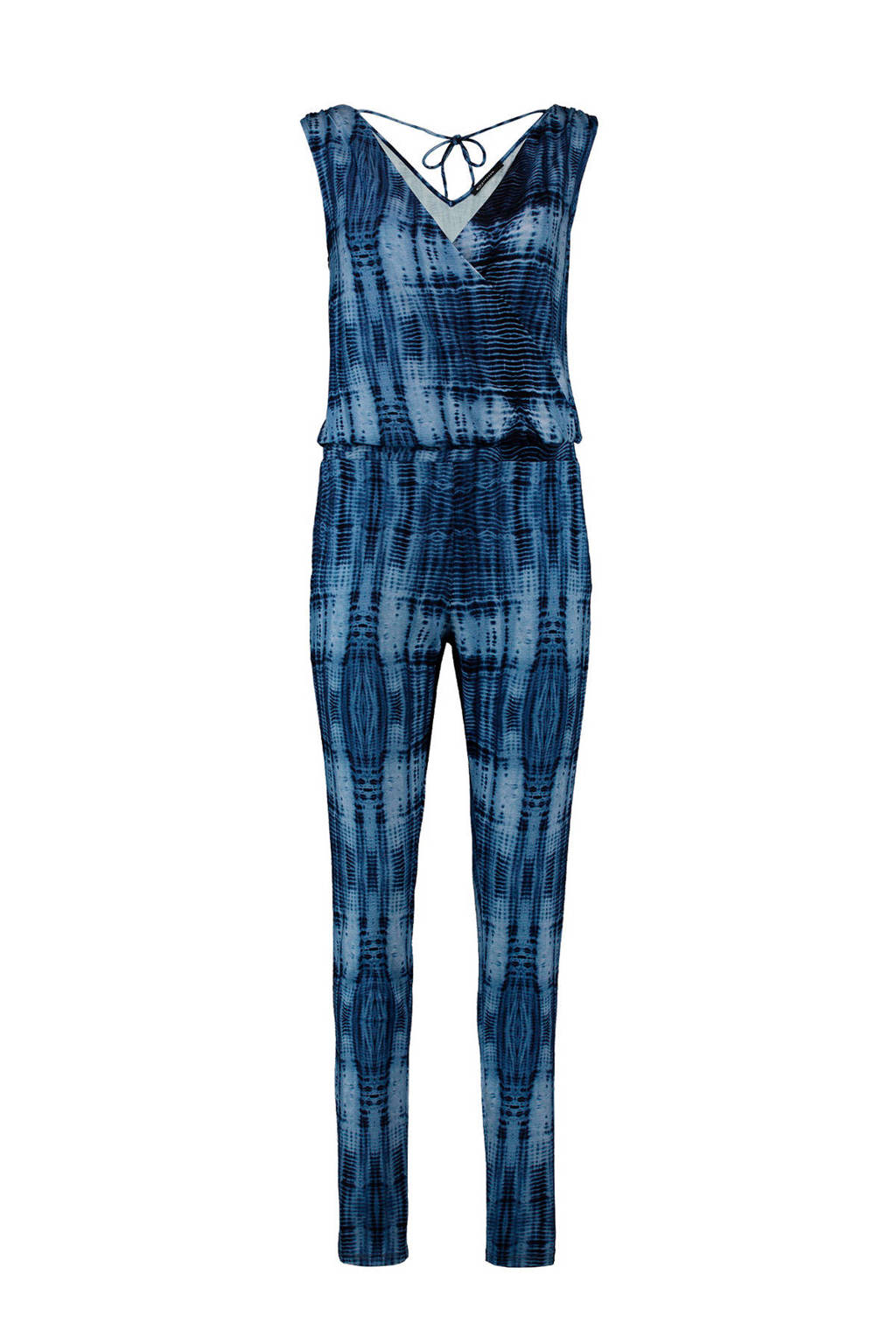 Expresso jumpsuit Gadora met all over print blauw, Blauw