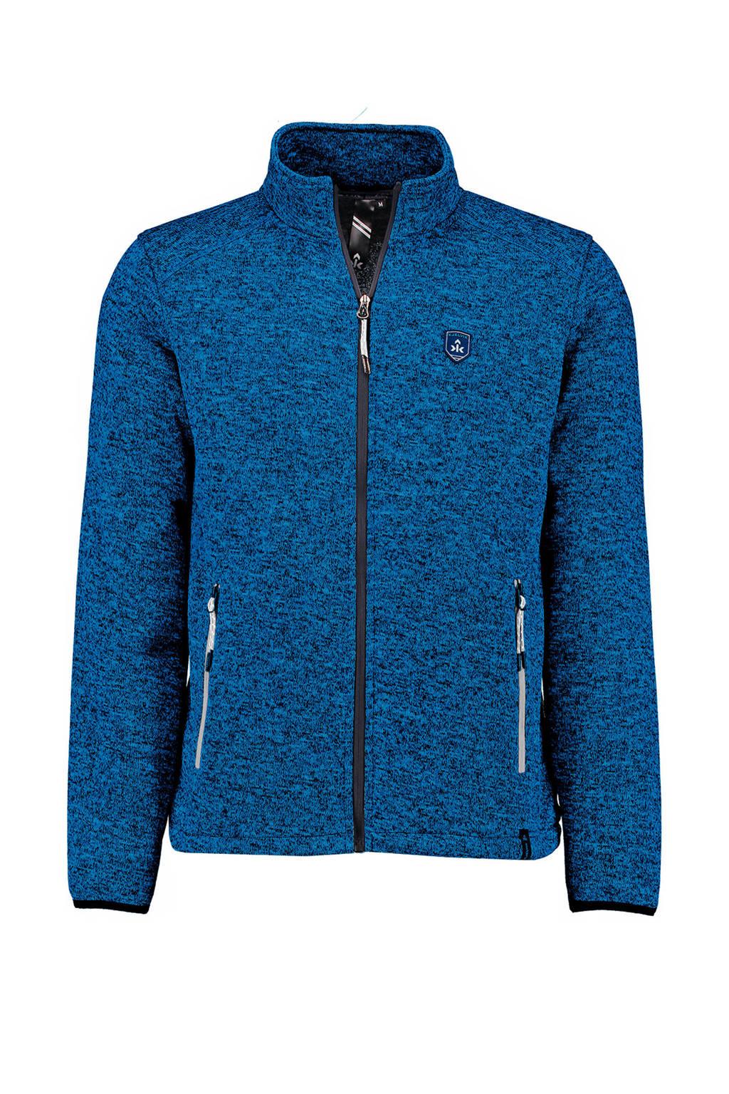 Kjelvik   fleece vest Jurt blauw, Blauw