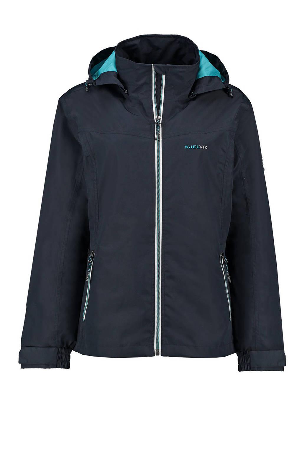 Kjelvik outdoor jas donkerblauw, Navy