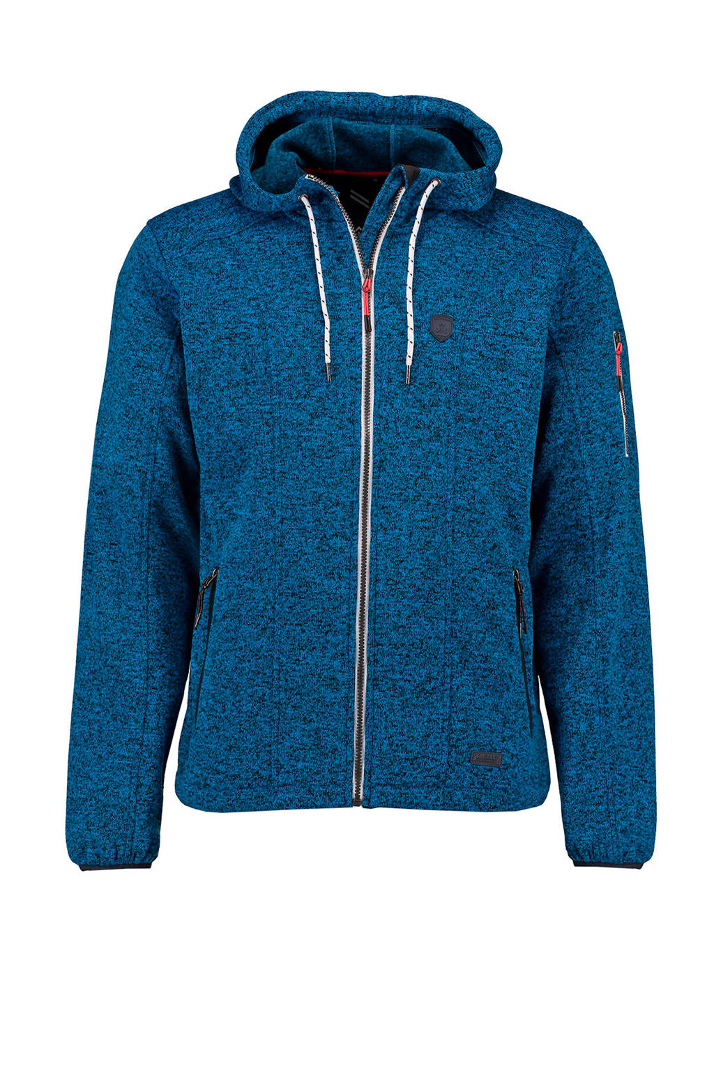Kjelvik   fleece vest Ury blauw, Blauw