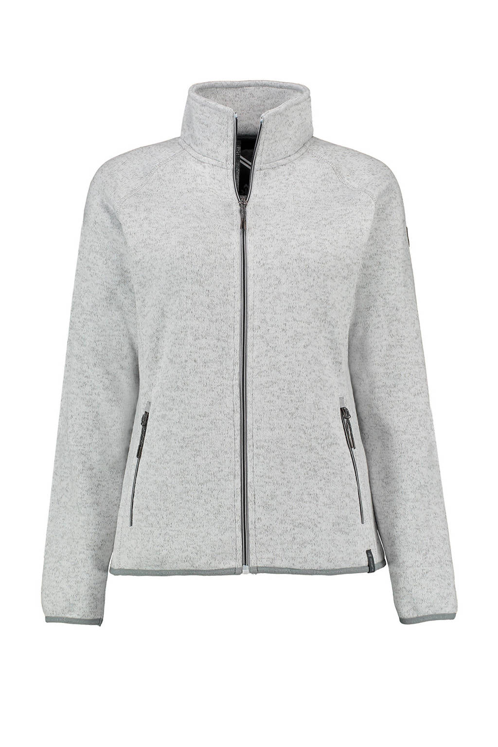 Kjelvik fleece jack Byanca wit/grijs, Wit/grijs