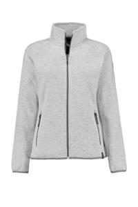 Kjelvik fleece vest Byanca wit/grijs, Wit/grijs