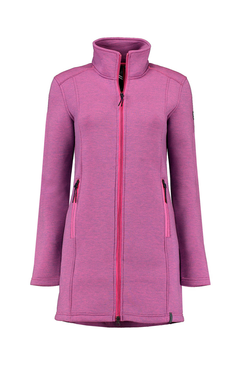 Kjelvik lange fleece jack Wyara roze, Pink