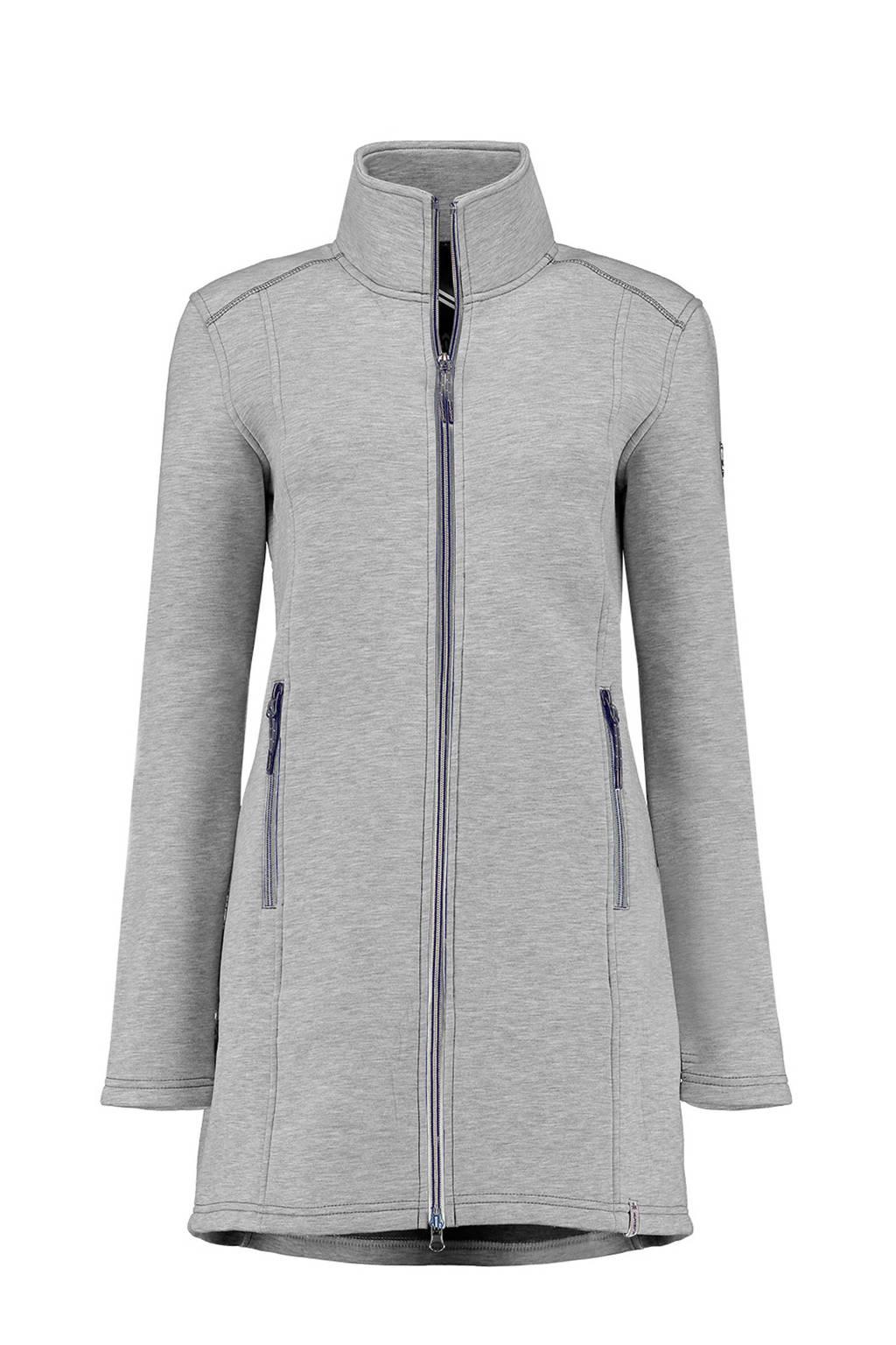 Kjelvik lange fleece vest Wyara grijs, Grey