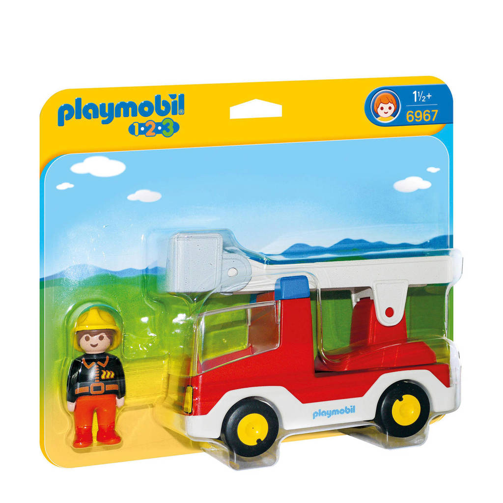 Playmobil 1-2-3 Brandweerwagen met ladder  6967