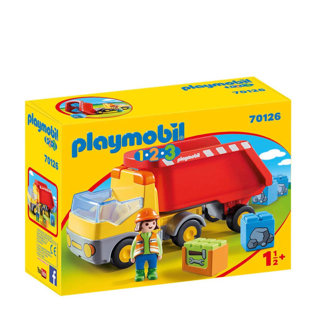 Playmobil 1-2-3  Kiepwagen 70126