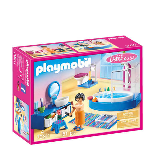 Playmobil Dollhouse Badkamer met ligbad 70211
