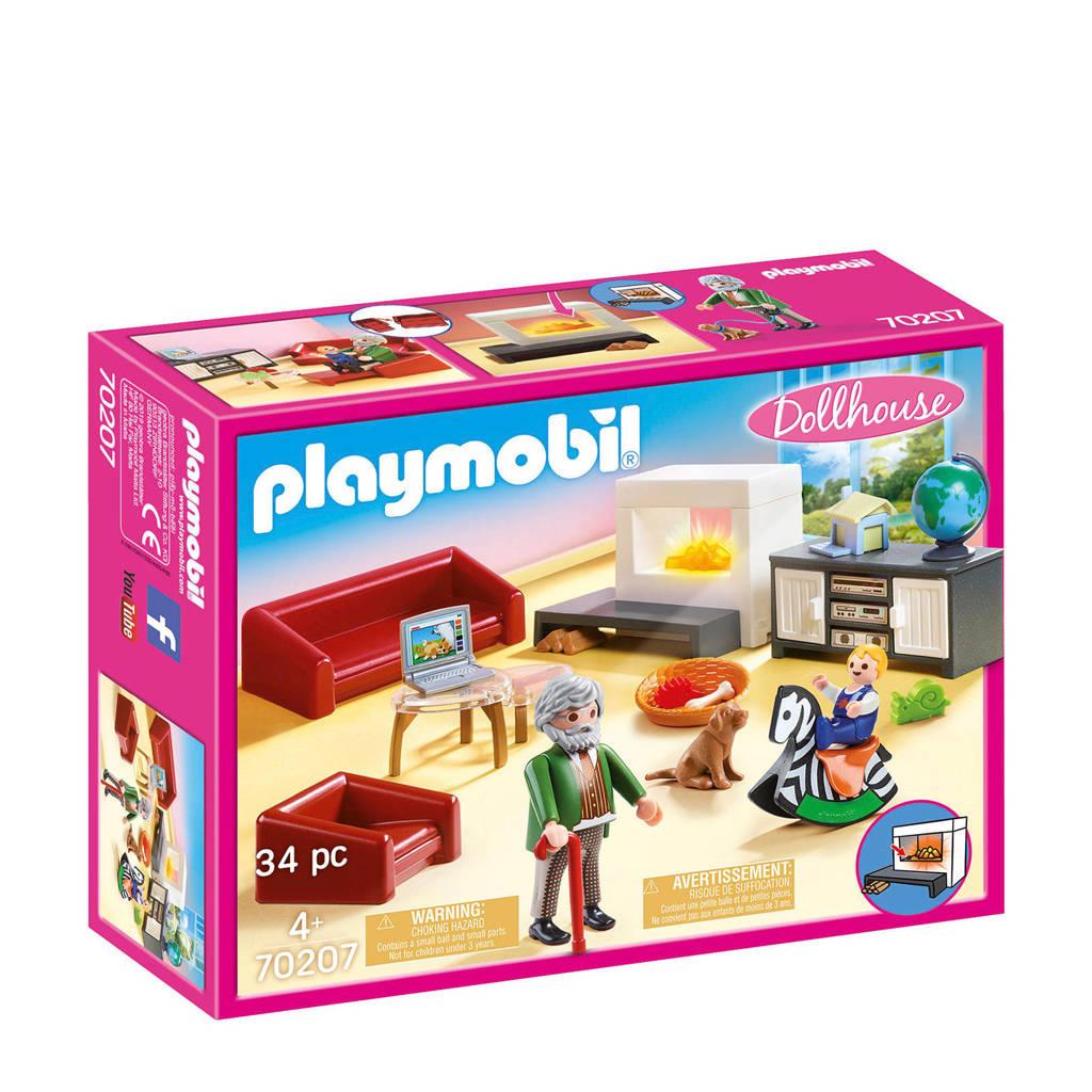 Playmobil Dollhouse  Huiskamer met openhaard 70207