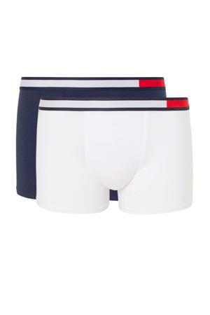 boxershort - set van 2 wit/donkerblauw