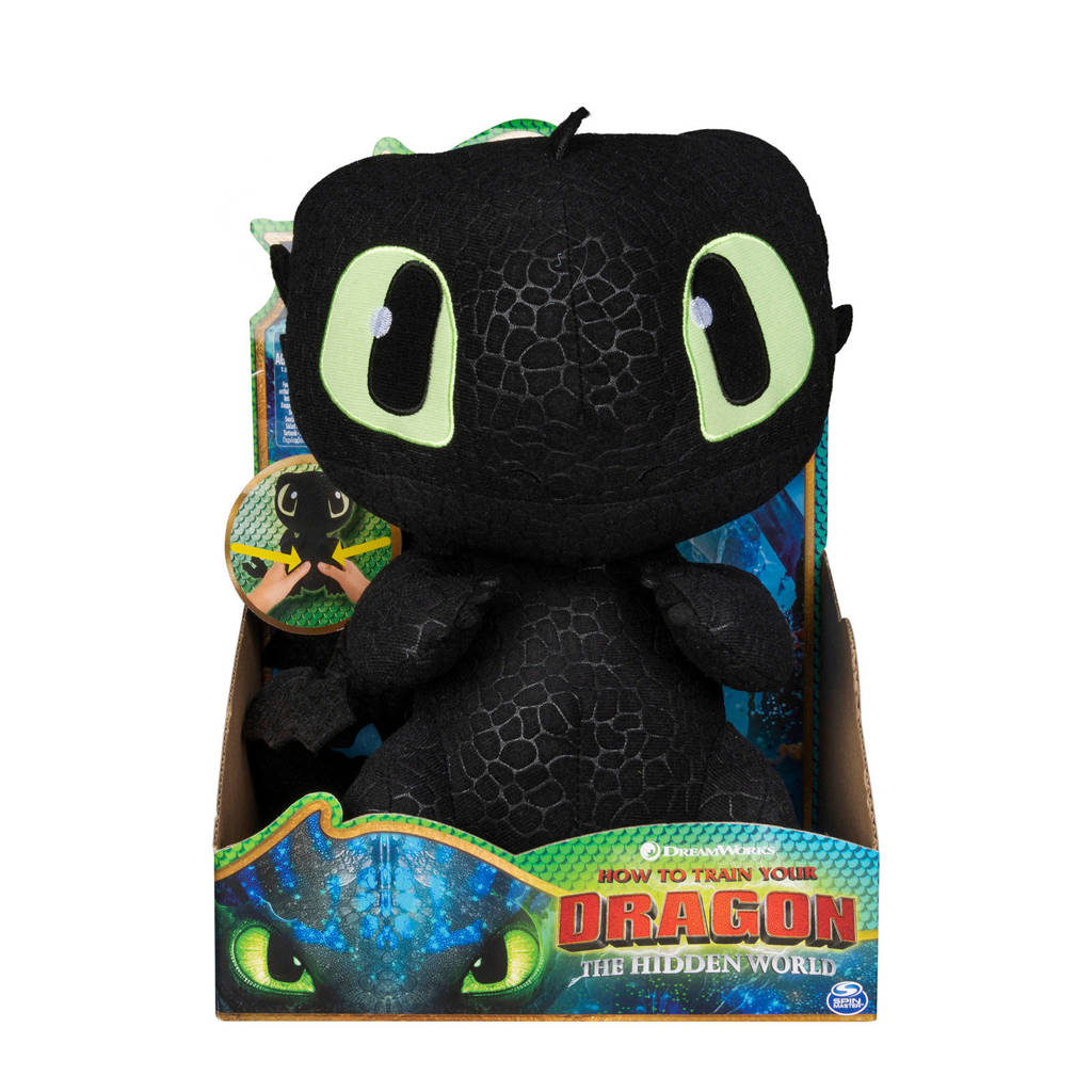 Dragons Squeeze & Growl Toothless knuffel 25 cm