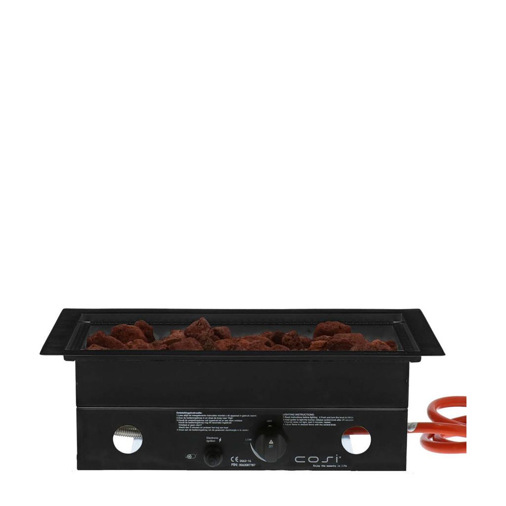 Cosi Fires Cosiburner rectangular 52x32 cm, Zwart