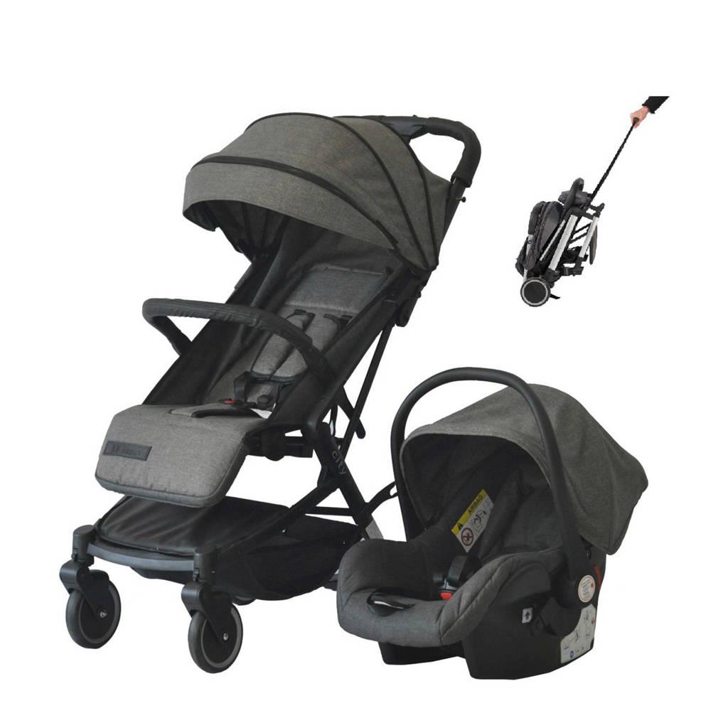 Xadventure Xline City buggy+autostoel 0+ grijs, Grijs