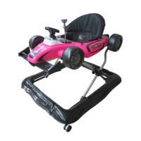 Xadventure 2-in-1 loopstoel met geluid, Zwart/roze