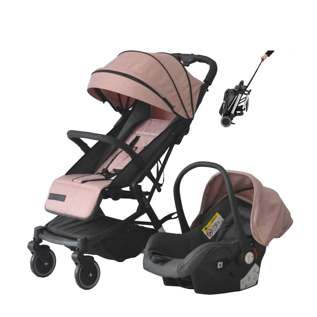 Xadventure Xline City buggy+autostoel 0+ oudroze, Oudroze