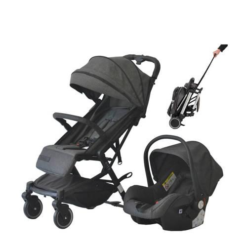 Xadventure Xline City buggy+autostoel 0+ antraciet kopen