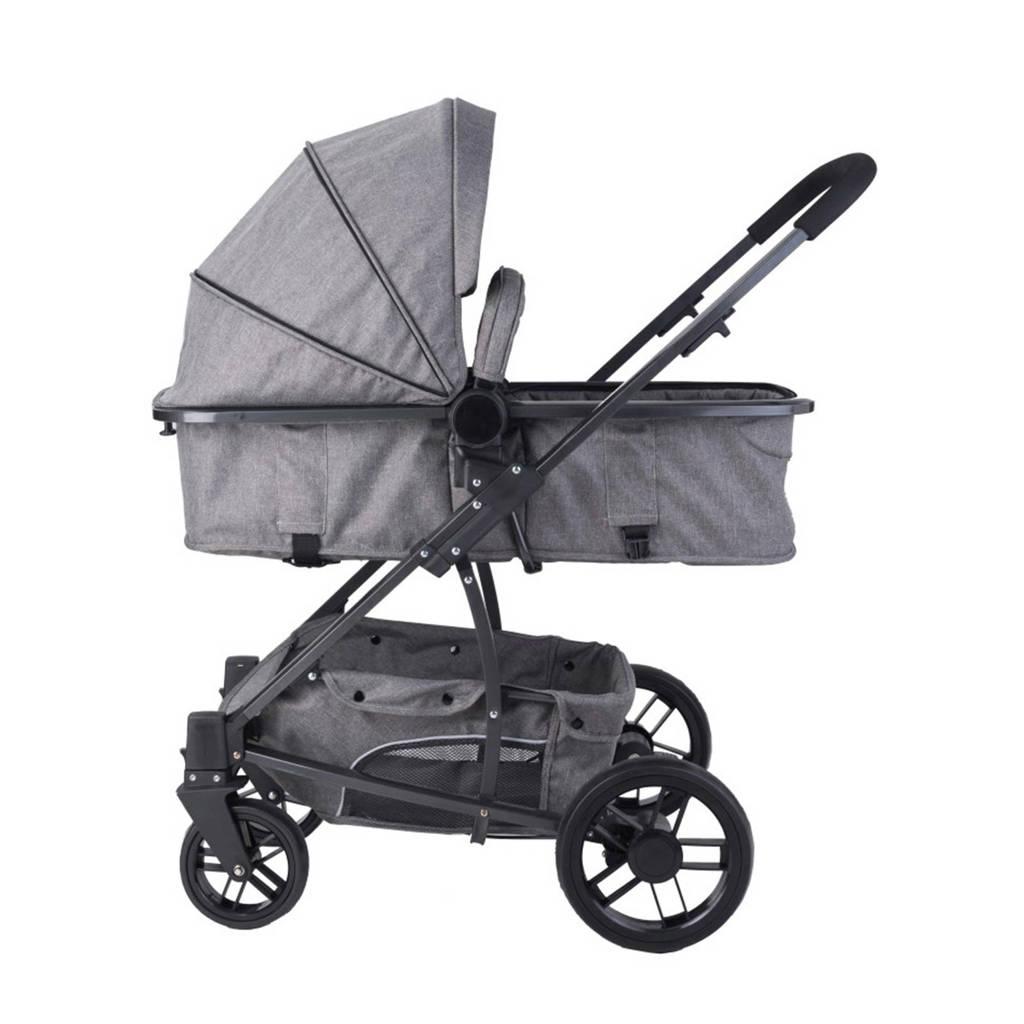 Xadventure Xplorer kinderwagen+autostoel groep 0+luierstas grijs, Grijs