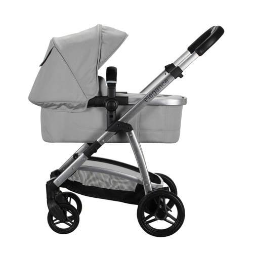 Born Lucky kinderwagen+autostoel+adapters lichtgrijs kopen