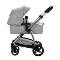Born Lucky kinderwagen+autostoel+adapters lichtgrijs, Lichtgrijs
