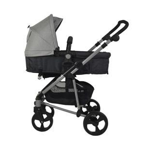 3-in-1 kinderwagen + autostoel lichtgrijs
