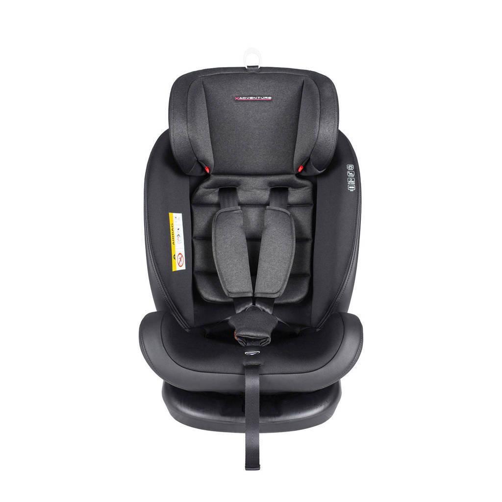 Xadventure Quickfix autostoel 0-1-2-3 groep, Zwart