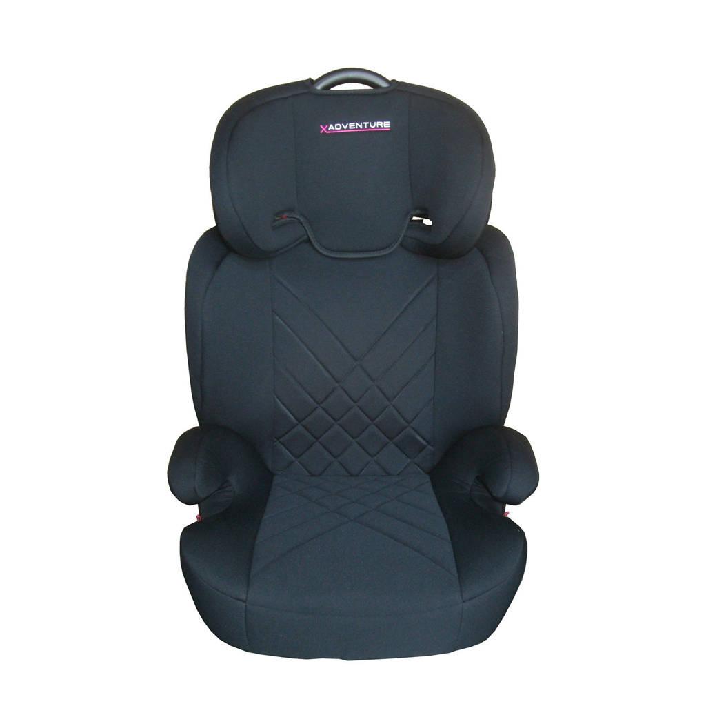 Xadventure Junior Fix autostoel groep 2-3 zwart, Zwart