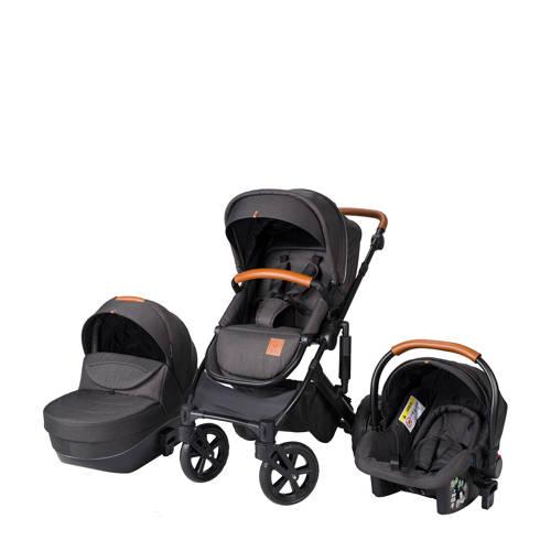 Born Lucky Rapsodie kinderwagen+autostoel groep 0 antraciet kopen