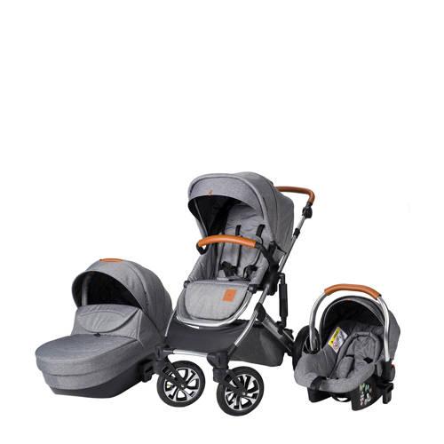 Born Lucky Rapsodie kinderwagen+autostoel groep 0 grijs kopen