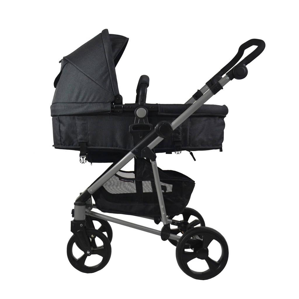 Xadventure 3-in-1 kinderwagen + autostoel zwart, Zwart