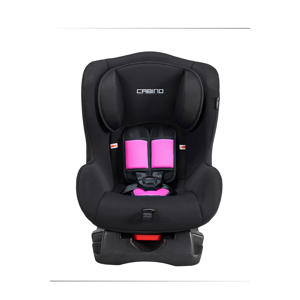 autostoel groep 0+1 zwart/roze