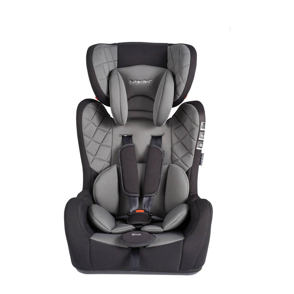Bebies First autostoel groep 1+2+3 zwart/grijs, Zwart/grijs