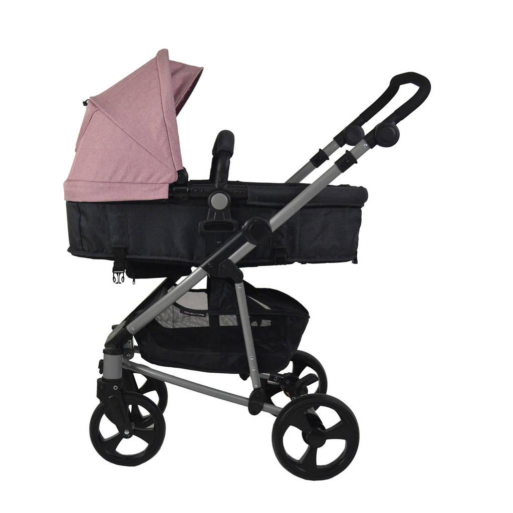 Xadventure 3-in-1 kinderwagen + autostoel roze, Roze