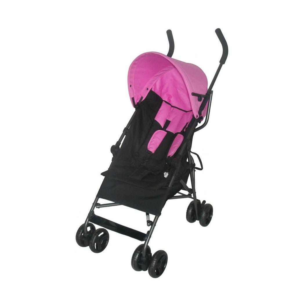 Bebies First buggy roze, Zwart/roze