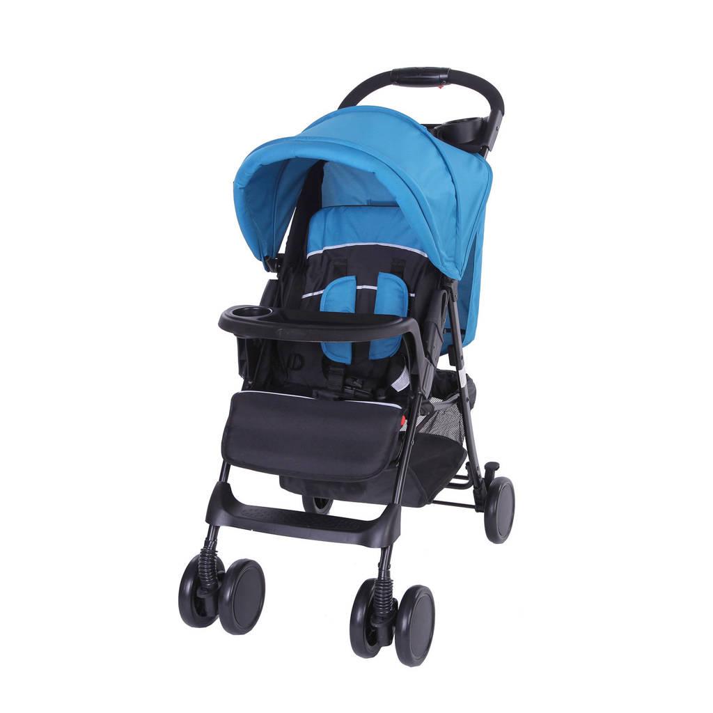 Bebies First buggy-shopper blauw, Zwart/blauw