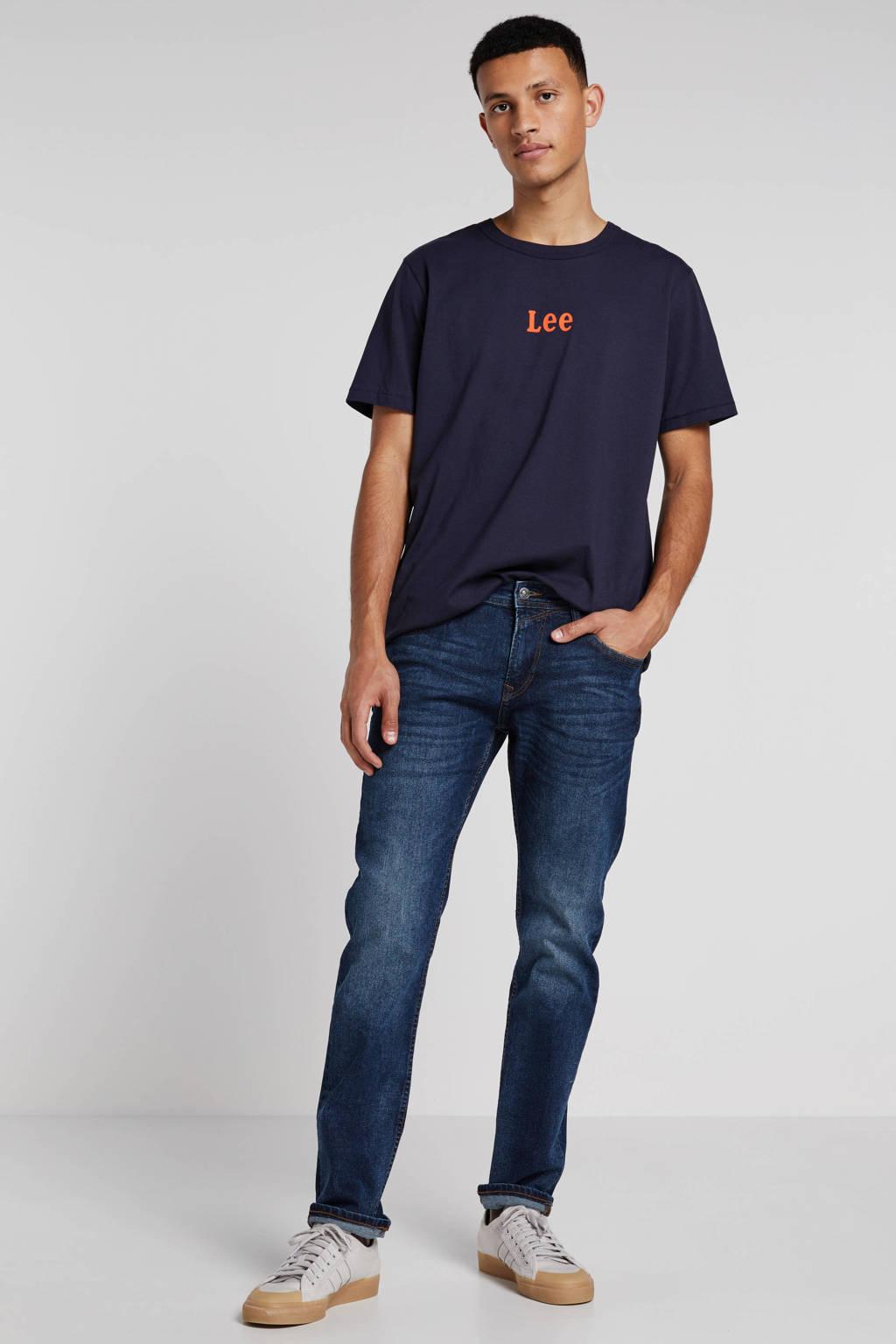 Tom Tailor slim fit jeans Piers used dark stone blue, Used Dark Stone Blue