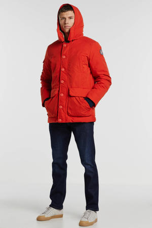 winterjas oranje/rood