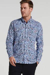 New Zealand Auckland regular fit overhemd met all over print blauw, Blauw