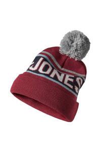 JACK & JONES JUNIOR muts Mac rood, Rood/grijs/blauw/wit