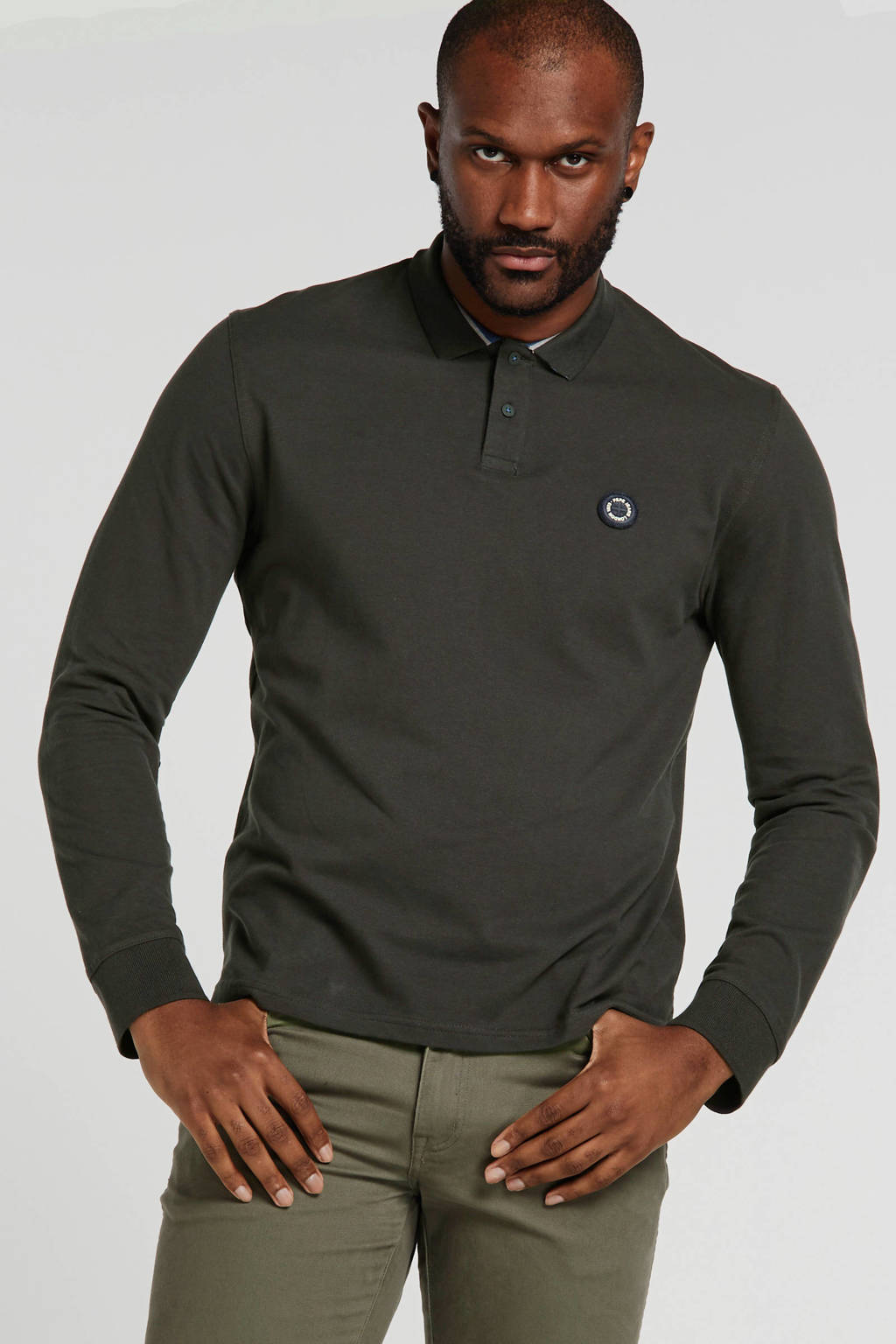 Pepe Jeans regular fit polo antraciet, Antraciet