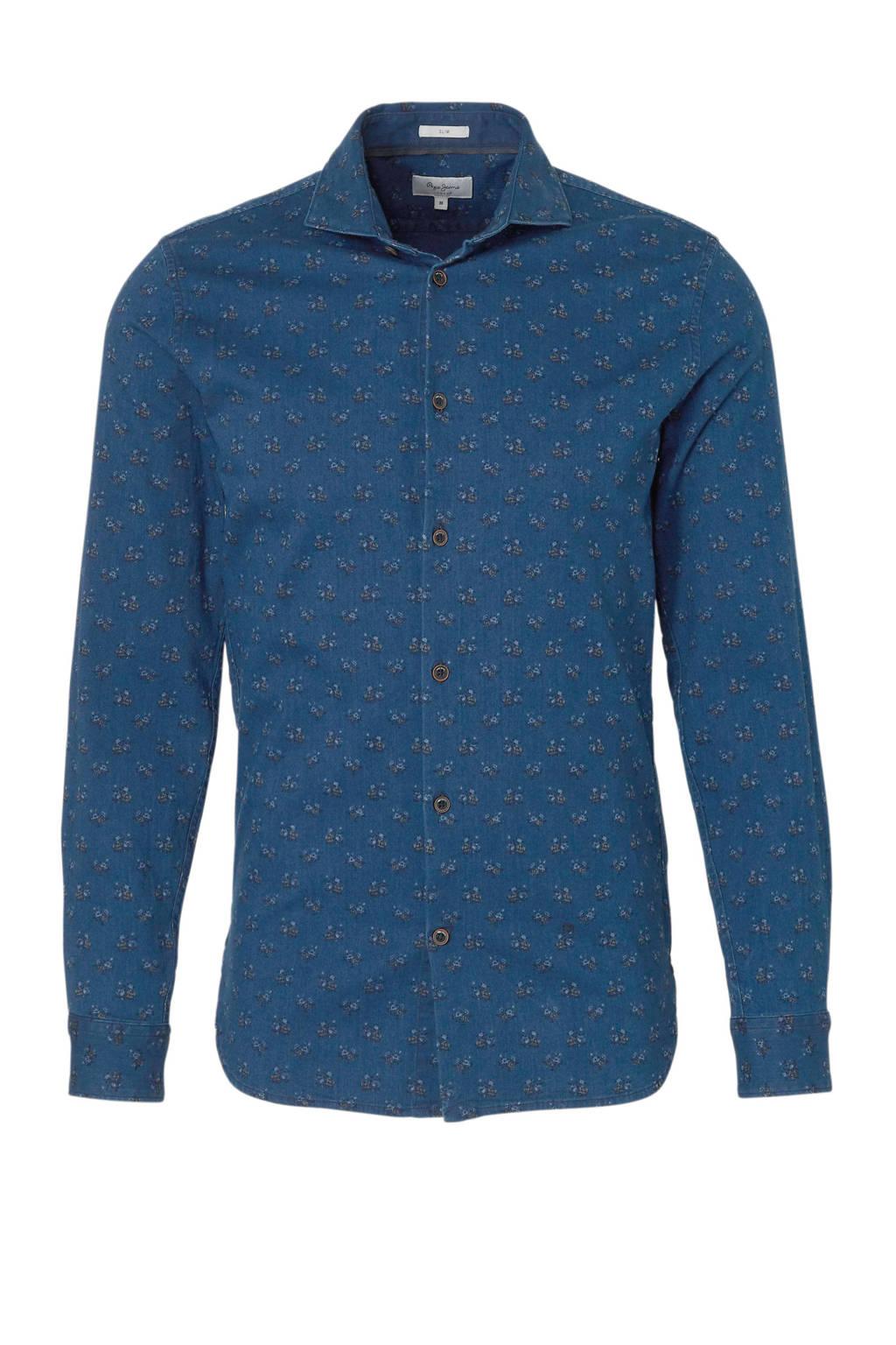 Gebloemd Overhemd.Pepe Jeans Gebloemd Overhemd Axel Denim Wehkamp