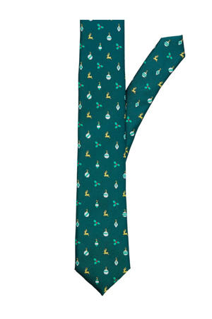 kerst stropdas groen
