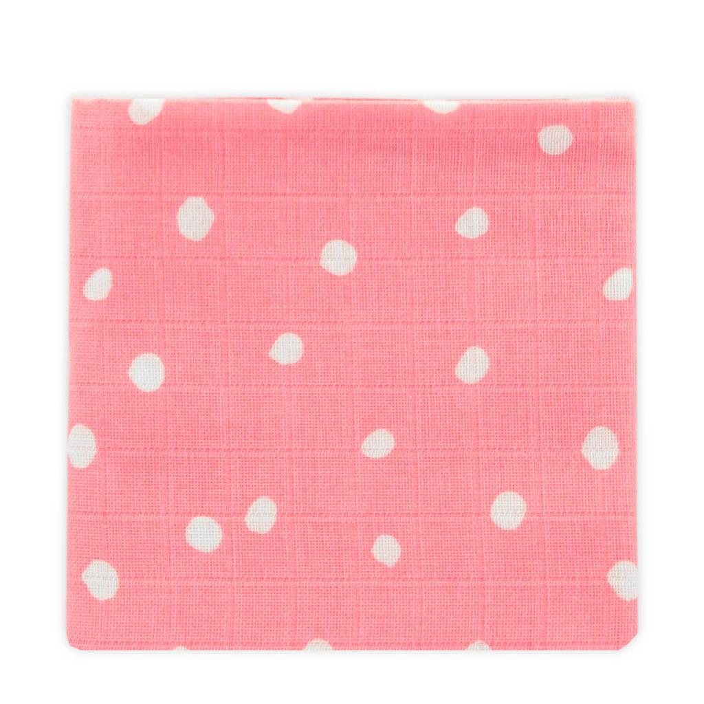 Little Lemonade hydrofiele luier roze stip - set van 3, Roze